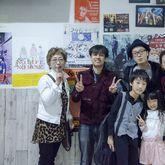 先生と一緒にご家族記念写真