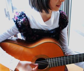クラッシックギターレッスン風景1